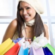 Shopping asian girl — Stock Photo