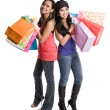 Stock Photo: Shopping asian women