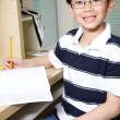 Stock Photo: Studying kid
