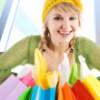 Shopping caucasian girl — Stock Photo #5454180