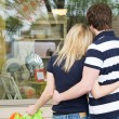 Shopping caucasian couple — Stock Photo