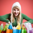 Shopping caucasian girl — Stock Photo #5454225