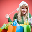 Shopping caucasian girl — Photo
