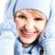 Beautiful caucasian winter girl — Stock Photo