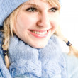 Beautiful caucasian winter girl — Stock Photo #5454319