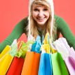 Shopping caucasian girl — Stock Photo #5454347