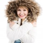 Beautiful caucasian winter girl — Stock Photo