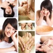 Beauty spa and massage collage — Stock Photo #5454408