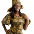 Stock Photo: Beautiful africwoman