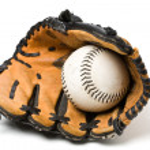 Baseball ball and glove — Stock Photo #5454566
