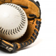 Baseball ball and glove — Stock Photo #5454571