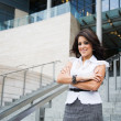 Hispanic businesswoman outdoor — Stock Photo