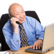 Working senior asian businessman — Stock Photo #5454851