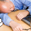 Senior asian businessman sleeping — Stock Photo