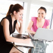 businesswomen meeting — Stock Photo