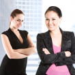 Beautiful caucasian businesswomen — Stock Photo #5454966