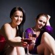 Beautiful women party time — Stock Photo