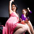 Beautiful women dance and party — Stock Photo #5454999