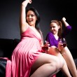 Beautiful women dance and party — Stock Photo