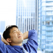 Asian businessman resting — Stock Photo #5455021