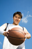 Asian basketball player — Stock Photo