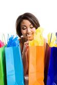 Shopping black woman — Stock Photo