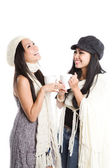 Happy beautiful asian women laughing — Stock Photo