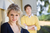Young caucasian couple — Stock Photo