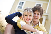 Young caucasian couple in love — Stock Photo