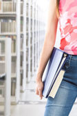 Student at library — Stock Photo