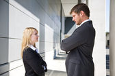 Two angry caucasian business — Stock Photo