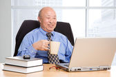 Senior asian businessman — Stock Photo
