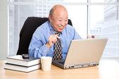Senior asian businessman — Stock Photo
