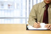 Working businessman at office — Stock Photo