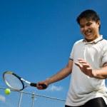 Asian tennis player — Stock Photo #5567089