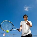 Asian tennis player — Stock Photo #5567091