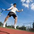 Asian tennis player — Stockfoto