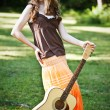 Stock Photo: Guitar girl