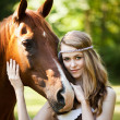 Royalty-Free Stock Photo: Girl with horse