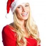 Christmas santa girl — Stock Photo