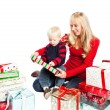 Christmas family gifts — Stock Photo #5567428