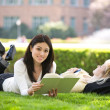 Studying college students - Stock Photo