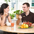Couple eating breakfast — Stock Photo #5567926