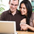 Royalty-Free Stock Photo: Happy couple shopping online