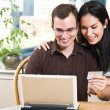 happy couple shopping online — Stock Photo #5567957