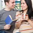 Happy couple relaxing at home — Stock Photo #5567962