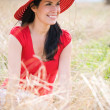 Stock Photo: Beautiful summer woman outdoor