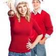 Christmas couple - Stock Photo