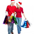Stock Photo: Christmas shopping couple