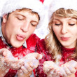 Stock Photo: Happy christmas couple